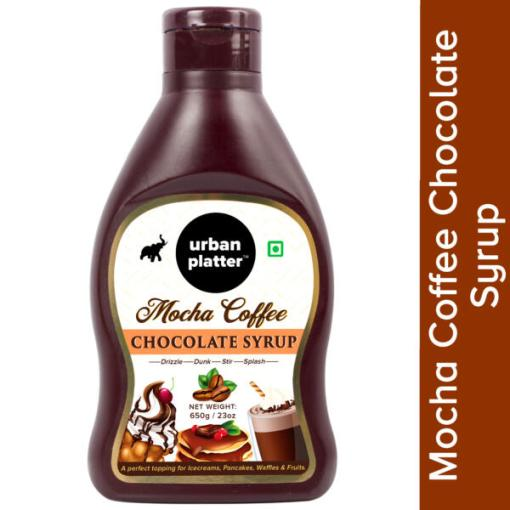 Urban Platter Mocha Coffee Chocolate Syrup / Sauce, 650g / 22.9oz [Vegan, Perfect Topping, Premium Quality Chocolatey Treat]