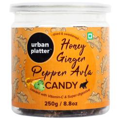 Urban Platter Honey Ginger, Pepper Avla Candy, 250g / 8.8oz [Loaded with Vitamin-C & Super-digestive Amla Treat]