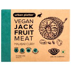 Urban Platter Vegan Jackfruit Meat, Malabar Curry, 300g / 10.5oz [MockMeat, Ready to Cook, Plant-Based]