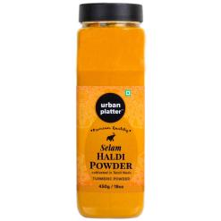 Urban Platter Selam Haldi (Turmeric) Powder Shaker Jar, 450g / 18oz [Cultivated In Tamilnadu]