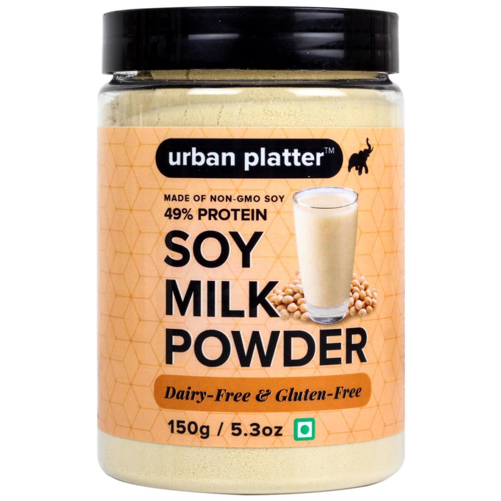 Urban Platter Soy Milk Powder, 150g / 5.3oz [Vegan, Non-GMO & 49% Protein]