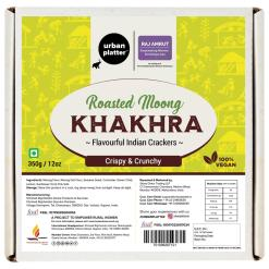 Urban Platter Crispy Roasted Moong Khakhra (Crackers), 350g / 12oz [Powered By Shrimad Rajchandra Women Empowerment Programme]