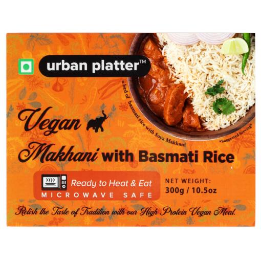 Urban Platter Vegan Makhani with Basmati Rice, 300g / 10.5oz [Vegan Meals, Ready to Heat & Eat, Microwave Safe]