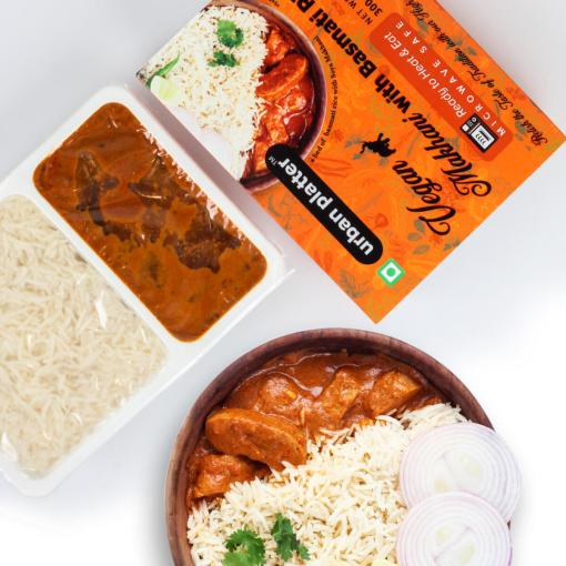 Urban Platter Vegan Makhani with Basmati Rice, 300g / 10.5oz [Pack of 3, Vegan Meals, Ready to Heat & Eat, Microwave Safe]