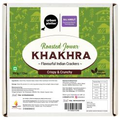 Urban Platter Crispy Roasted Jowar Khakhra (Crackers), 350g / 12oz [Powered By Shrimad Rajchandra Women Empowerment Programme]