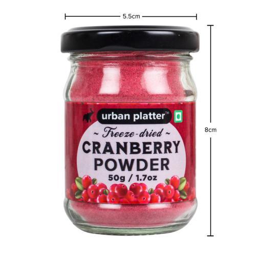 Urban Platter Freeze-Dried Cranberry Powder, 50g / 1.7oz [Flavourful]