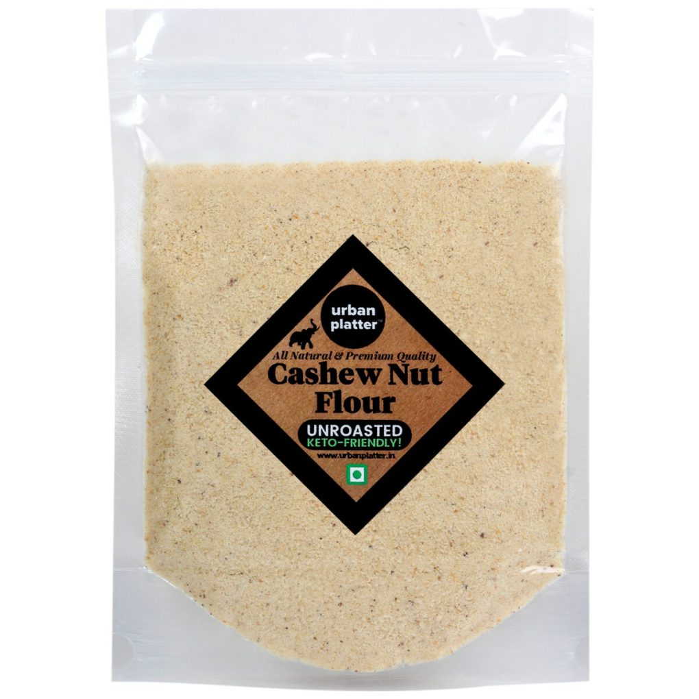 Urban Platter Unroasted Cashew  Nut Flour, 500g / 17.6oz [Keto-Friendly]