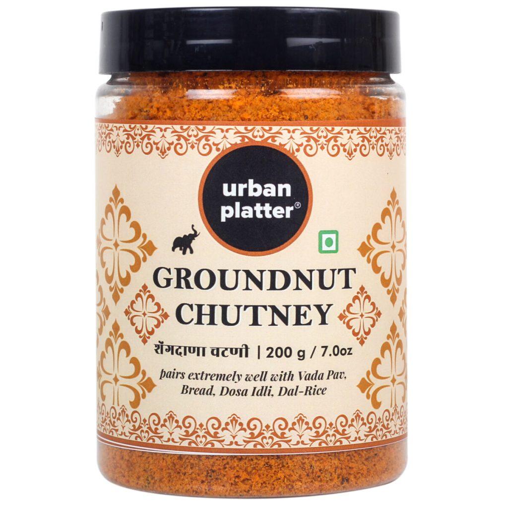 Urban Platter Groundnut Chutney, 150g / 5.3oz [Dry Singdana Peanut Chutney]