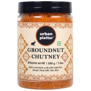 Urban Platter Groundnut Chutney, 150g / 5.3oz [Dry Singdana Chutney]