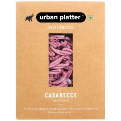 Urban Platter Vegan Pasta Fresca Beetroot Casarecce, 500g / 17.6oz [Hand Crafted]