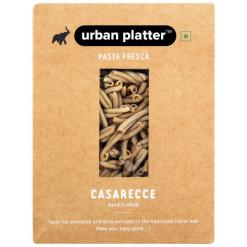 Urban Platter Vegan Pasta Fresca Whole Wheat Casarecce, 500g / 17.6oz [Hand Crafted]