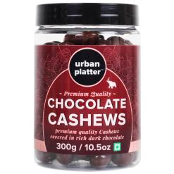Urban Platter Chocolate Cashews (Kaju), 300g / 10.5oz [Cashews Covered in Dark Chocolate]