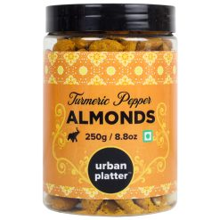 Urban Platter Turmeric Pepper Almonds, 250g / 8.8oz [Delicious, Tasty and Crunchy Snack]