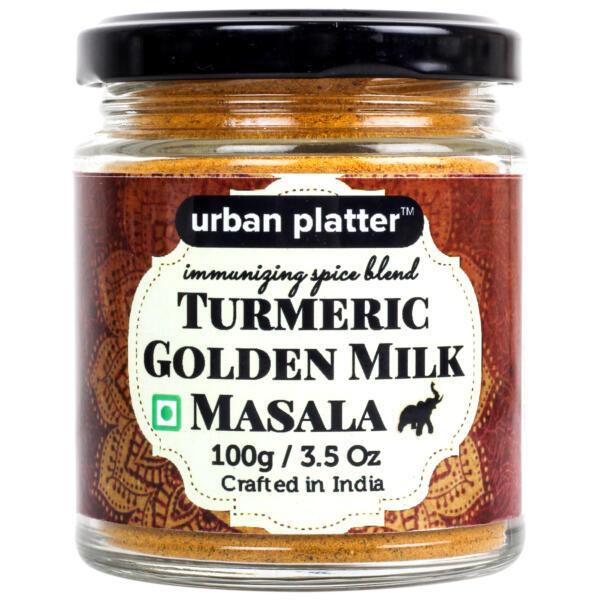 Urban Platter Turmeric Golden Milk Masala, 100g [All Natural & Immunizing Spice Blend for Turmeric Latte]