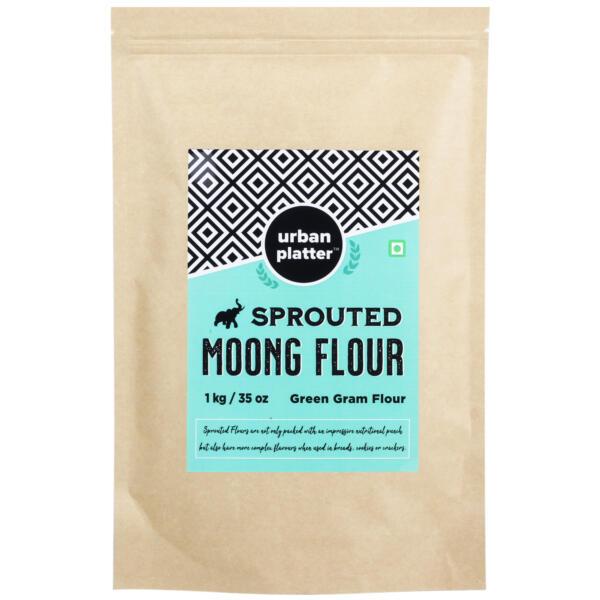 Urban Platter Sprouted Moong Flour, 1Kg / 35.2oz [Green Gram Flour]