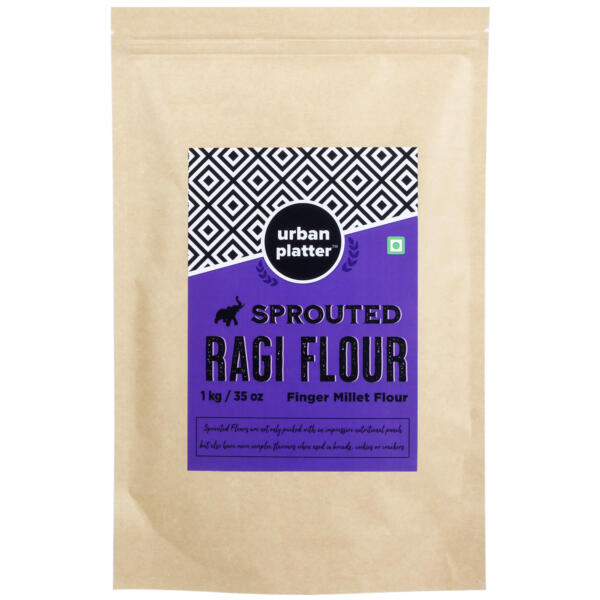 Urban Platter Sprouted Ragi (Nachani) Flour, 1Kg / 35.2oz [Finger Millet Flour]