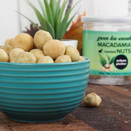 Urban Platter Roasted Wasabi Macadamia Nuts, 200g