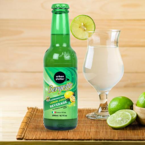 Urban Platter Bergotto Carbonated Lemon Juice Beverage, 200ml / 6.7fl.oz [Pack of 6, Product of Italy, Original Bergamot Soda]