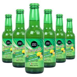 Urban Platter Bergotto Carbonated Lemon Juice Beverage, 200ml / 6.7fl.oz [Pack of 12, Product of Italy, Original Bergamot Soda]