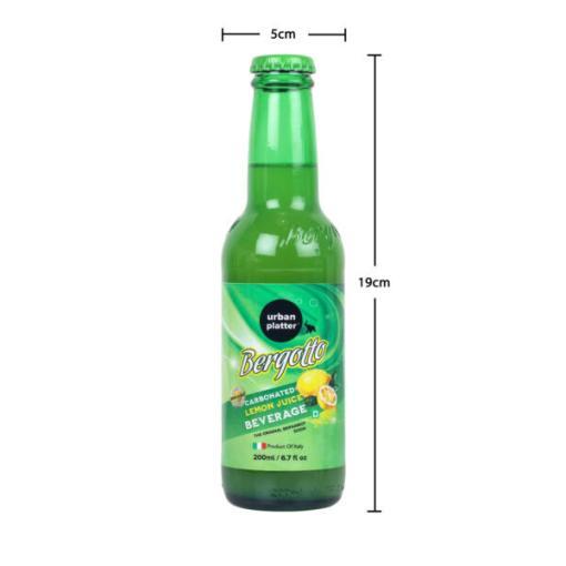 Urban Platter Bergotto Carbonated Lemon Juice Beverage, 200ml / 6.7fl.oz [Pack of 3, Product of Italy, Original Bergamot Soda]