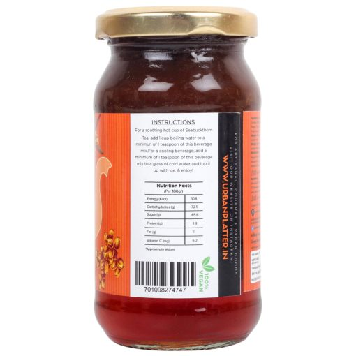 Urban Platter Seabuckthorn Tea Concentrate, 275g [Just add Hot Water]