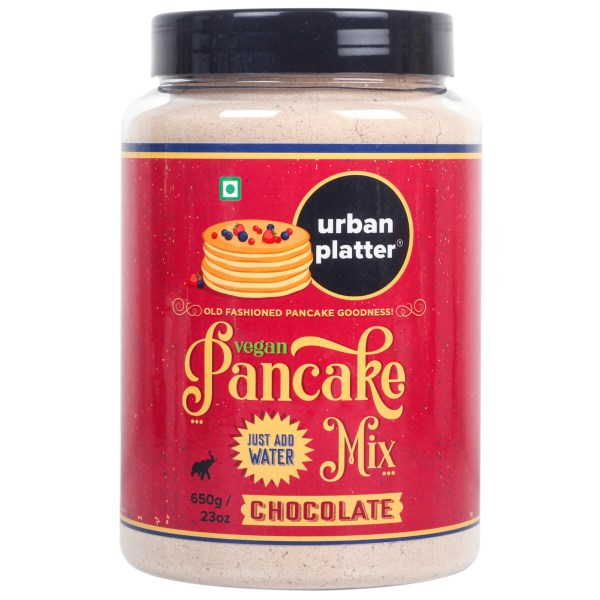 Urban Platter Gluten-free Vegan Chocolate Pancake Mix, 650g / 23oz [Just Add Water]
