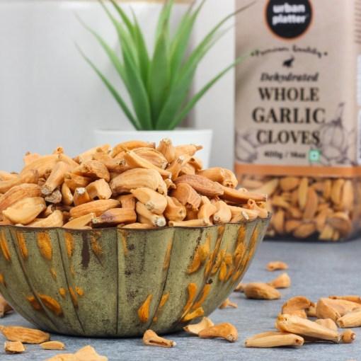 Urban Platter Dehydrated Whole Garlic (Lehsun) Cloves, 400g