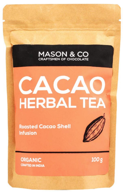 Mason & Co. Organic Roasted Cacao Shell Infusion Herbal Tea, 100g [100% Fat & Calorie Free, No Artificial Flavour]
