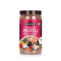 Urban Platter Crunchy Fruit & Nut Muesli, 1kg [Fruit & Nut Breakfast Delight]