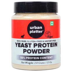 Urban Platter Unfortified Yeast Protein Powder, 150g / 5.3oz [Nutritional, Gluten-Free, 55% Protein]