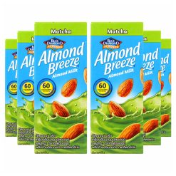 Blue Diamond Almond Breeze Matcha Almond Milk, 180ml [Pack of 6, Vegan]