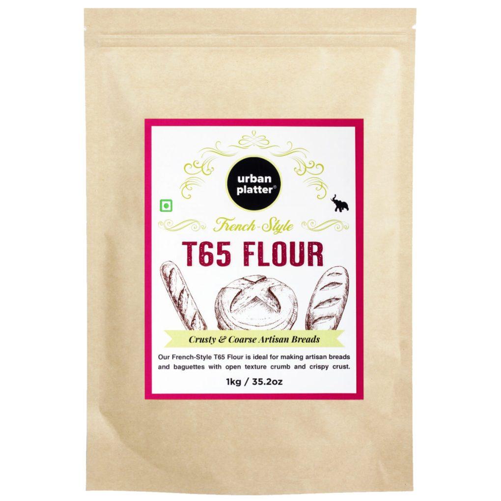 Urban Platter French Style T65 Flour 1Kg / 35.2oz [For Crusty & Coarse Artisan Bread]