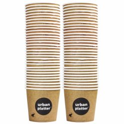 Urban Platter Branded Disposable Paper Cups, 150ml - Pack of 50