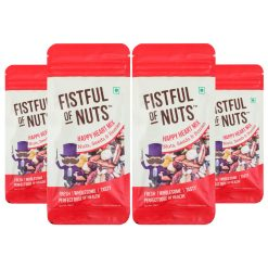Fistful of Nuts, Happy Heart Mix, A Mix of Roasted Nuts, Seeds & Berries, 45g x Pack of 4