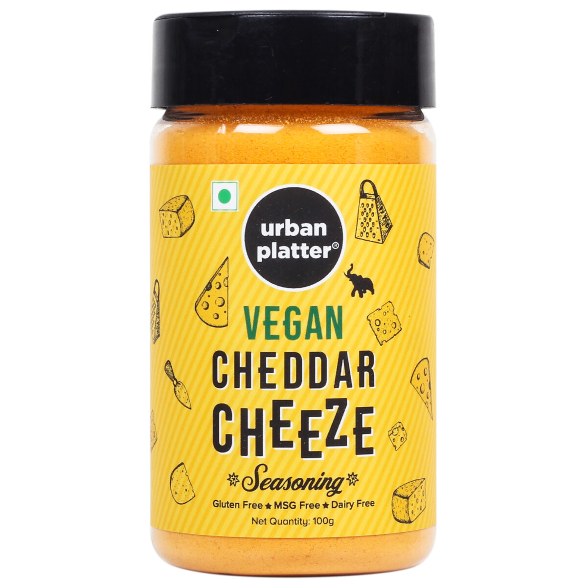 Urban Platter Cheddar Cheese Powder, 100g (Perfect for Pop Corn, Pasta, Fries Seasoning | Dairy-free | Vegan)