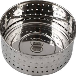 Urban Platter 100% Stainless Steel Paneer/Stainer Mould With Top Press Lid, 350 ml, Size 2
