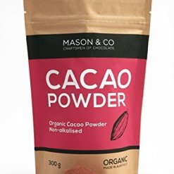 Mason & Co. Non-Alkalised Organic Vegan Artisanal Indian Cacao Powder, 300g