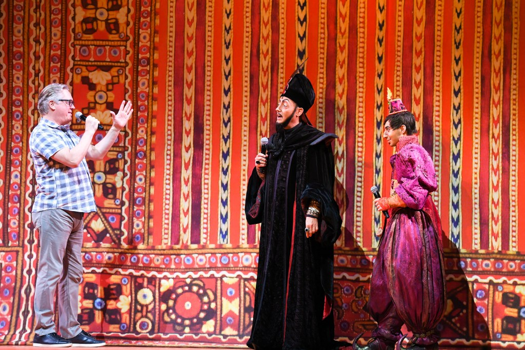 Patrick R. Brown as Jafar, Doron Chester as Iago. Interview with the cast at the Singapore Media Call