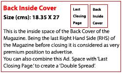 Back Inside Cover (Rs. 300,000)