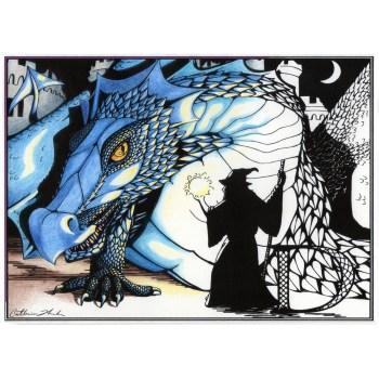 Monster coloring book dragon