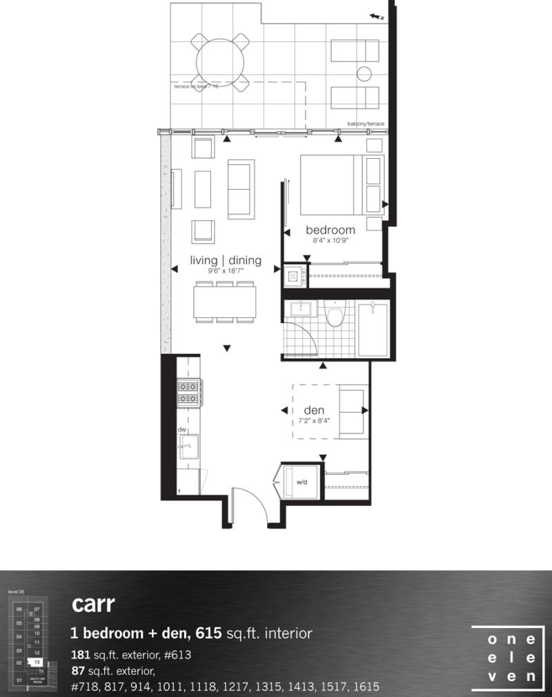 111 bathurst condos for sale for Kaplan floor plan