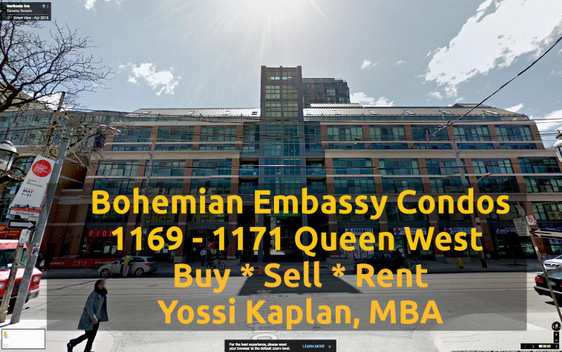 Bohemian Embassy Condos on 1171 Queens St West