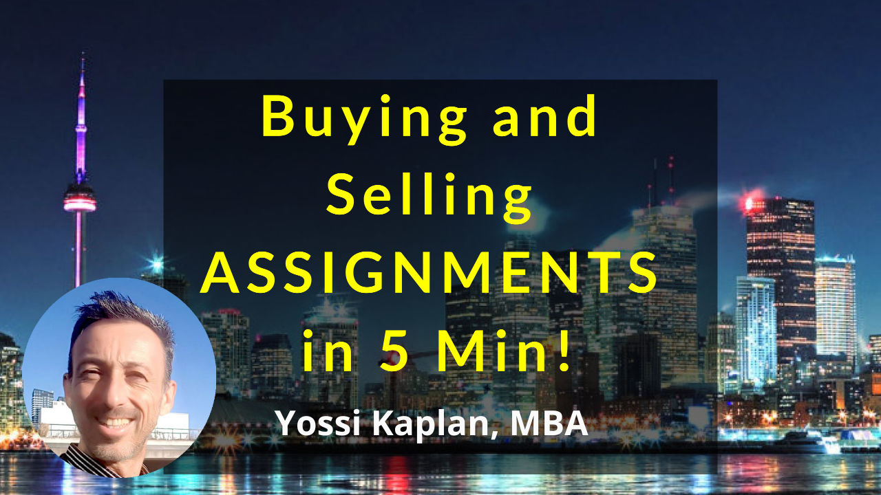 Buying and Selling Condo Assignments – in Five Minutes!