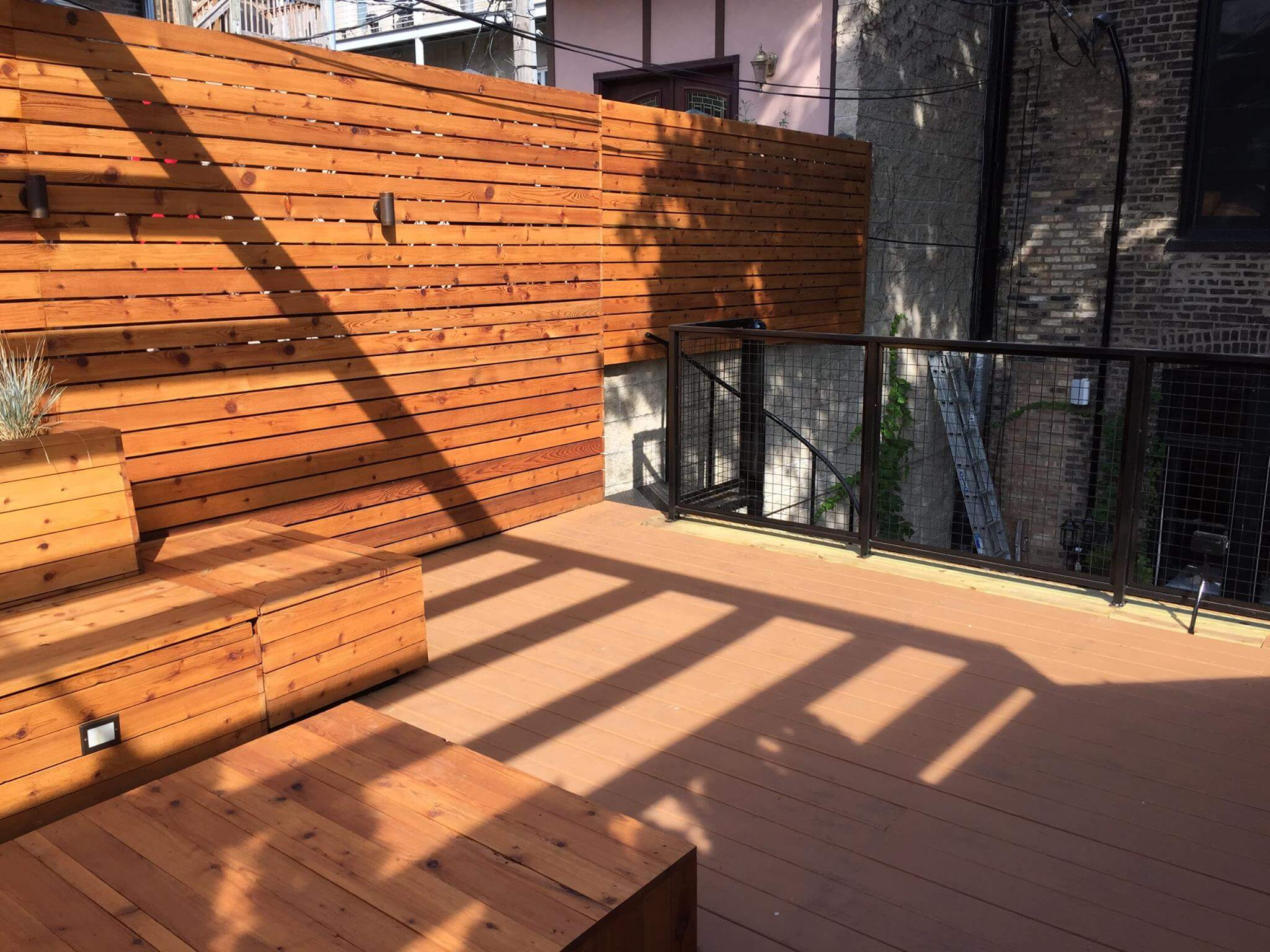 Roof Deck With Seating And Built In Planters, Chicago