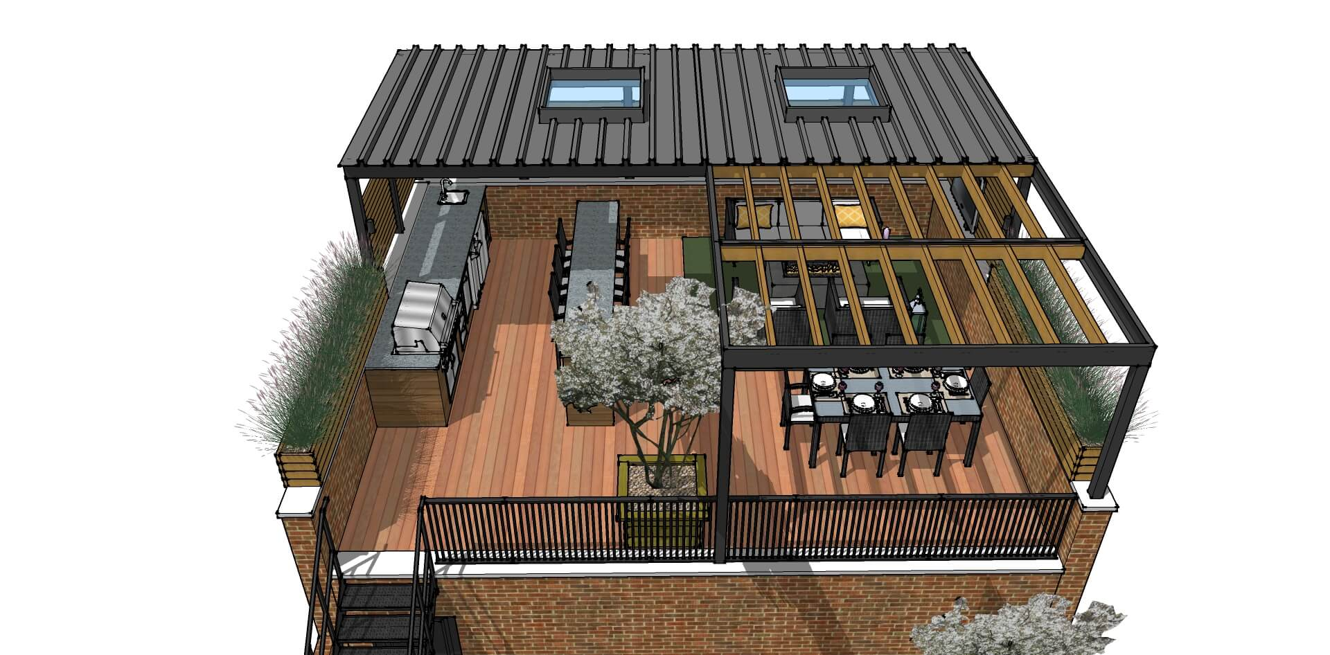 Roof Deck Renovation And Modernization-Lakeview, Chicago on Deck Over Patio Ideas id=22250
