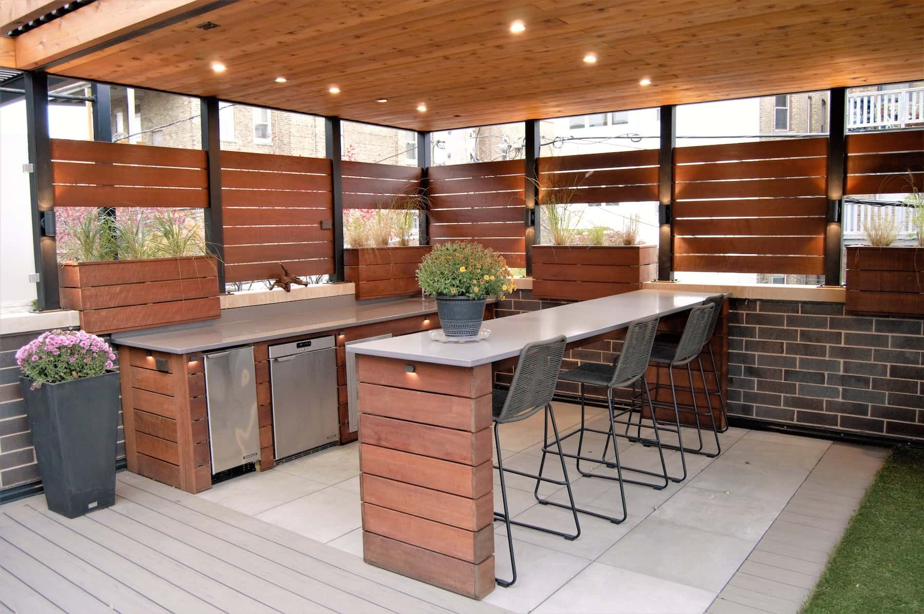 Rooftop & Patio Outdoor Space With Outdoor Kitchen - Lake ... on Outdoor Kitchen Patio  id=84996