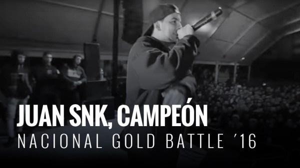 La nacional acabó con Juan SNK campeón de Gold Battle de la temporada 2016.