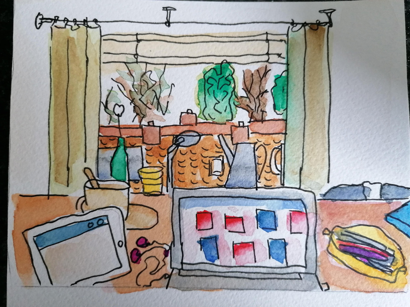 Urban Sketching in tijden van Corona: Ellen Schoumacher