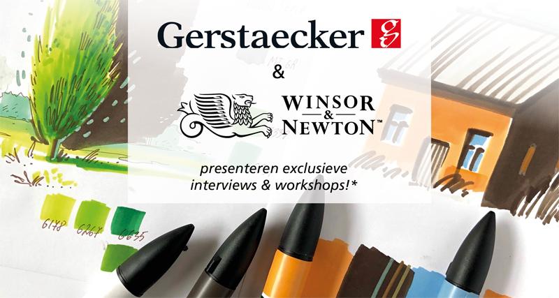 Urban Sketching met Winsor & Newton en Gerstaecker