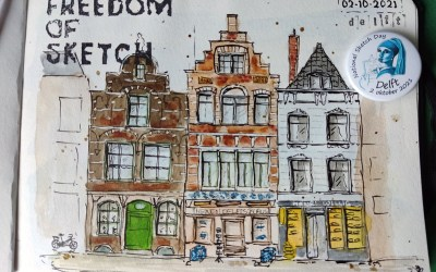 National Sketch Day in Delft